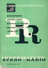 VEB Stella radio Berlino Viaggio destinatario Stella Elite DDR informazione n. 98 1967