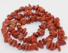 "Diy red river jasper freeform chip beads strand 16"" hand making 4-9mm"