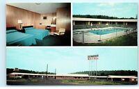 Midcentury Modern Shepherd Motel Restaurant Calhoun Georgia vintage postcard A84