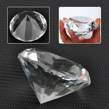 60mm Clear Crystal Glass Cut Giant Diamond Jewelry Paperweight Wedding Decoratio