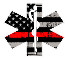 "Fire Deparment Logo (T26) EMS USA 4"" Firefighter Vinyl Decal Sticker Car Window"
