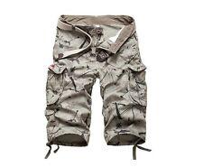 Stylish Mens Military Combat Camo Cargo Shorts Pants Work Short Army Trouser