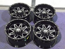 "12"" POLARIS RZR 800 S4 ALUMINUM ATV WHEELS NEW SET 4 - LIFETIME WARRANTY T4"