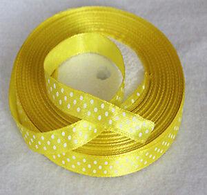 "wholesale 45Yards  3/8""10mm Bulk Polka Dot Ribbon Satin Craft Supplies crafs"