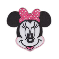 Minnie Mouse Face Embroidered Iron On Sew On Patch Dress Bag tshirt Jacket Skirt