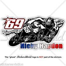 """NICKY HAYDEN 69 Kentucky Kid MotoGP Racing 153mm (6"""") Sticker Decal Aufkleber"""