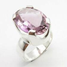 Natural AMETHYST Gemstone 925 Solid Silver HEAVY Ring Size 6.75 Wholesale Price