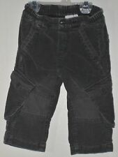 MEXX Boys Size 12-18 Months Gray Pull-On Fully Lined Cargo Corduroy Pants