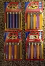 (4) 5pks assorted colors Full Size Bic Lighters