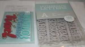DCWV Home - Letterboard Letters w Adventure Words - Grey Letters 1 inch Tall
