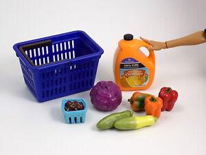 2006 Re-Ment American Kitchen #8 Supermarket Vegetables Fruit Barbie Food