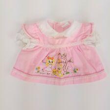 Vintage Cradle Togs Embroidered Infant Dress Spring Animals Print Size Newborn