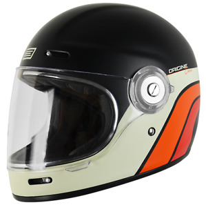 Origine Vega Classic Black Retro Integral Helm bell bullitt Livraison gratuite