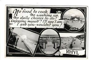 RP Multi-View Postcard of Rhyl