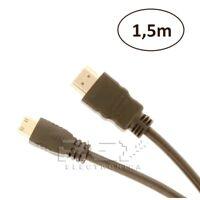 CABLE Mini HDMI a HDMI 1.4 Full HD Resolución 1080p 1.5m Adaptador v179
