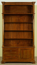 Victorian style OPENFRONT LIBRARY bookcase mahogany solid wood 80181