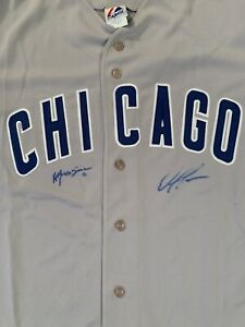 SIGNED ALFONSO SORIANO & MARK PRIOR CHICAGO CUBS JERSEY