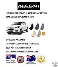 Sheepskin Car Seatcovers Hyundai IX35, Seat Airbag Safe, Five Colours.30mm TC