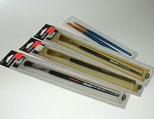Three Model Master Paint Brushes, NOS;  Two Royal, Chisel #10, Pointed #5