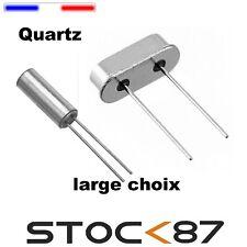 résonateur à quartz 49S  - 32.768K - 4 - 6 - 8 - 10 - 11.0592 - 12 - 14 -16  MHz