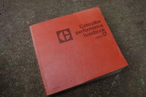 CAT Caterpillar 1987 Performance Handbook Edition 17 Manual specifications book