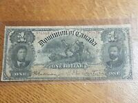 ➡➡1898 Dominion of Canada $1 Inward 1s Ones Note Bill Courtney DC-13a S/N 681810