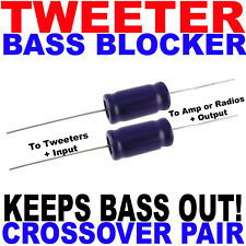 Bass Blockers Crossovers Caps Capacitors Protect Tweeter Protection 1 Pair