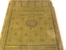 Kenilworth Sir Walter Scott Hardcover 1899 Eclectic Readings