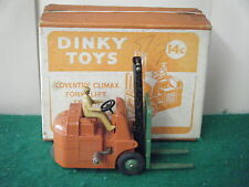 "Dinky No: 14C ""Coventry Climax Fork Lift Truck"" - Orange/Green"