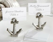 60 Nautical Anchor Place Card Photo Holders Beach Theme Wedding Favors