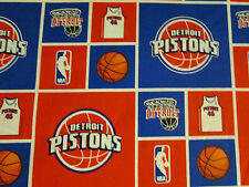 DETROIT PISTONS LICENSED COTTON FABRIC OOP BTHY