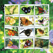 "Niuafo'ou 2012 Butterfly Definitives Stamp Sheetlet- Dropped ""L"" Variety"