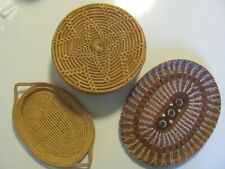 ANTIQUE HANDWOVEN BASKET/TRAY COLLECTION