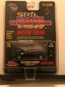 1/64 RACING CHAMPIONS MINT MOTOR TREND 1970/71 PLYMOUTH BARRACUDA