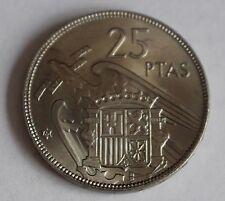 ESPAÑA: 25 Pesetas FRANCO 1957 estrella 65 S/C del cartucho (1965)