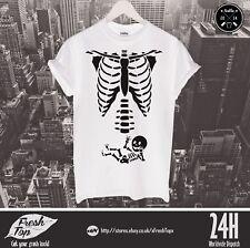 Maternity Baby Skeleton T Shirt Halloween Baby Shower Pregnancy Funny Gift