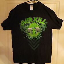 Overkill Prog Power 2014 Atlanta Georgia Official Tour Shirt Unworn Size L Large
