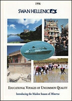 1996 Swan Hellenic Cruise Line maiden voyage of Minerva retro photo print ad S21