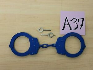 Peerless Model 750C Color Plated Handcuffs - Misprint engraving