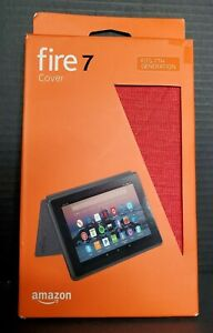 Amazon Fabric Protective Case for Fire 7 Tablet 7th Gen 2017 Red NEW Open Boxa