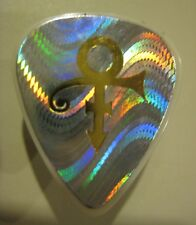 Prince Icon WAVY Hologram Pick Concert-Used Guitar Pick - 1995 Gold Tour