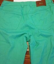 Women's ESCADA Wide Leg Pants Trousers Sz 40. Aqua Green 30 X 30 Tamara
