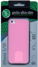 Gecko Gear Ultra Slim Case iPhone 5 / 5S Pink RRP $19.95 Bonus Screen Protector