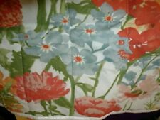 King size Quilted Pillow Sham Floral design in muted multi colors never used
