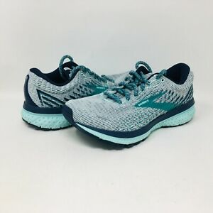 Brooks Ghost 13 Women's Grey / Navy / Parasailing   Running Shoes Size 7 B