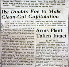1945 WW II Stars & Stripes newspaper USsays NAZI GERMANY WON'T totally SURRENDER