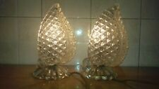 ABAT-JOUR 40's PAIR TABLE Barovier LAMPS GLASSES ORIGINAL MURANO