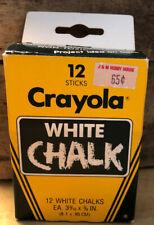 Vintage 1985 Unused Crayola White Chalk Box W/ All Pieces Complete Set