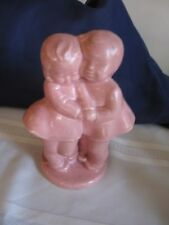 Vintage Pink Planter Girl and Boy 7 inches tall
