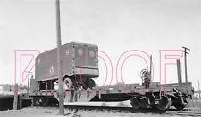 Denver & Rio Grande Western (D&RGW) Motor Way Trailer on Flatcar - 8x10 Photo